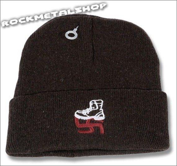 czapka SMASH NAZI ciemny brąz