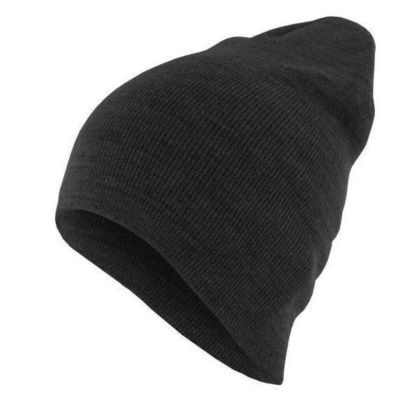 czapka zimowa MASTERDIS - BEANIE BASIC FLAP ht.charcoal