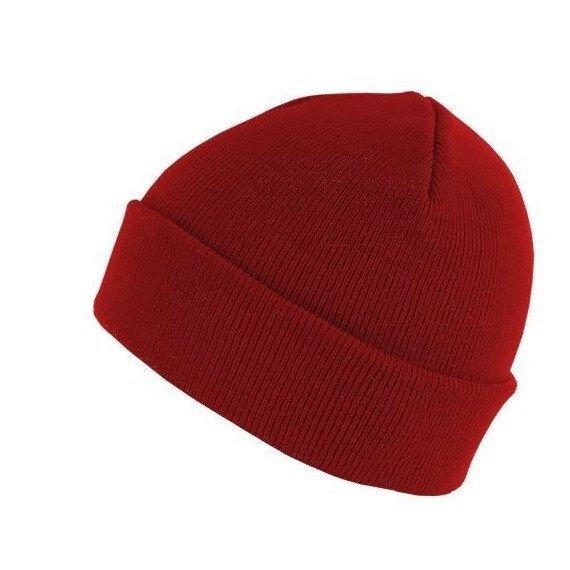 czapka zimowa MASTERDIS - BEANIE BASIC FLAP red