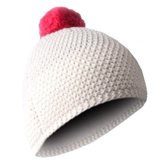 czapka zimowa MASTERDIS - BEANIE POLAR white/magenta