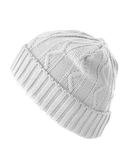 czapka zimowa MASTERDIS - CABLE FLAP white