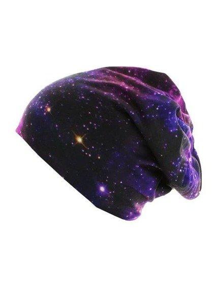 czapka zimowa MASTERDIS - PRINTED JERSEY GALAXY BLACK, obustronna