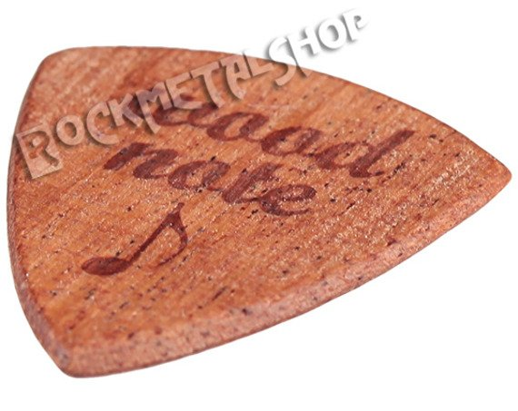 drewniana kostka do gitary WOODNOTE Jazz Shield - MAHOŃ SAPELE