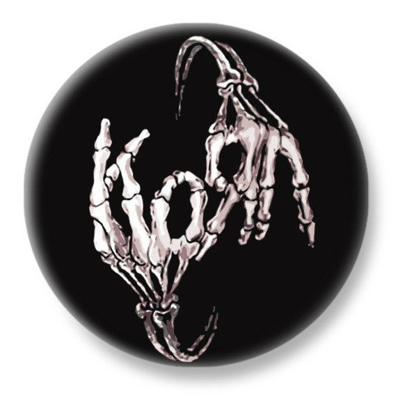 duży kapsel KORN - SKELETON HANDS LOGO