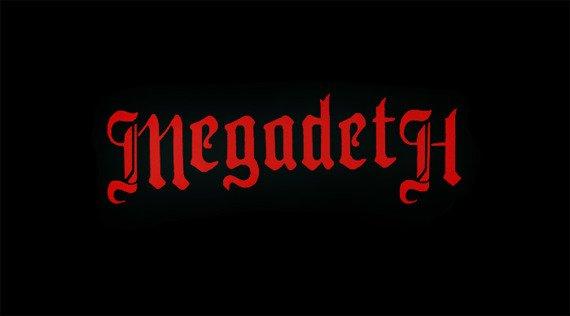 ekran MEGADETH - RED LOGO