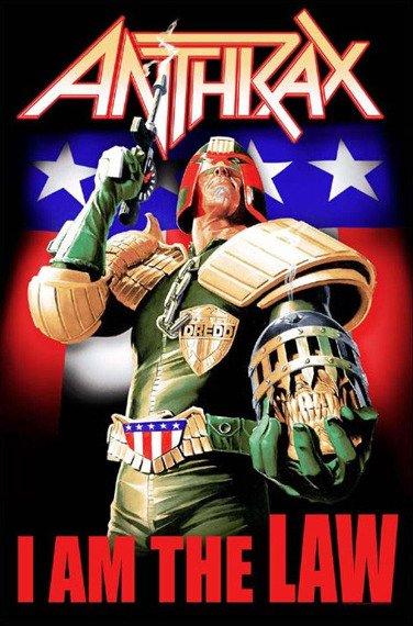 flaga ANTHRAX - I AM THE LAW