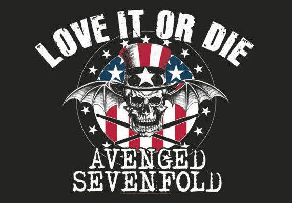 flaga AVENGED SEVENFOLD - LOVE IT OR DIE