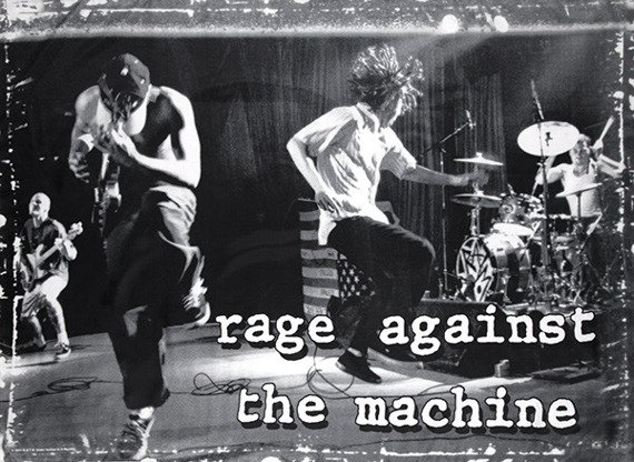 flaga RAGE AGAINST THE MACHINE - STAGE