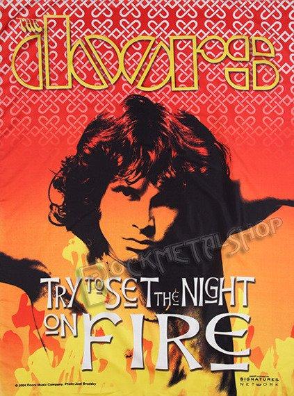 flaga THE DOORS - SET THE NIGHT ON FIRE