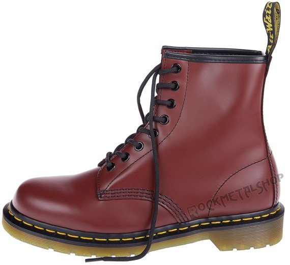 glany DR. MARTENS - DM 1460 CHERRY RED SMOOTH