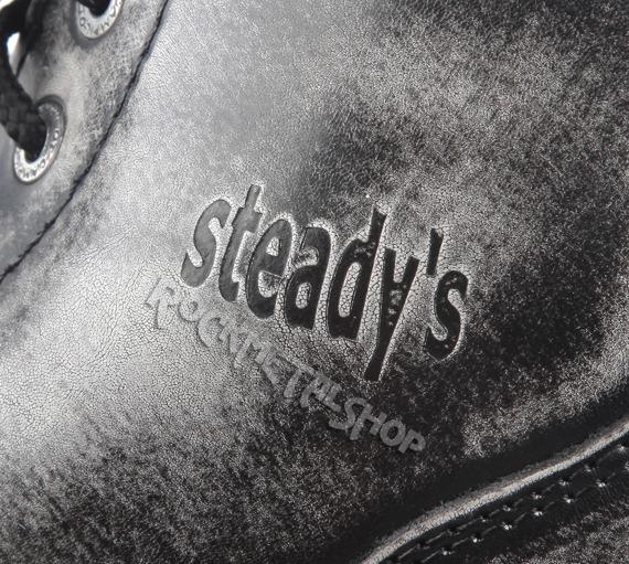 glany STEADY'S - 6 dziurek, białe przecierane (STE/6/PAS)