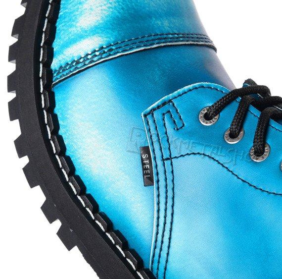 glany STEEL - ECRU / BLUE (10-dziurkowe)