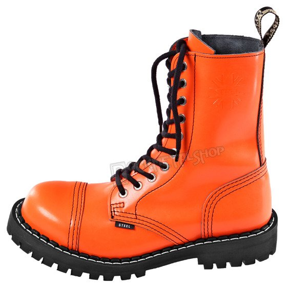 glany STEEL - FULL ORANGE (10 dziurek)