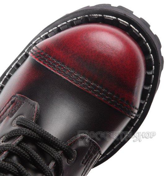 glany STEEL - RED / BLACK (10 dziurek)