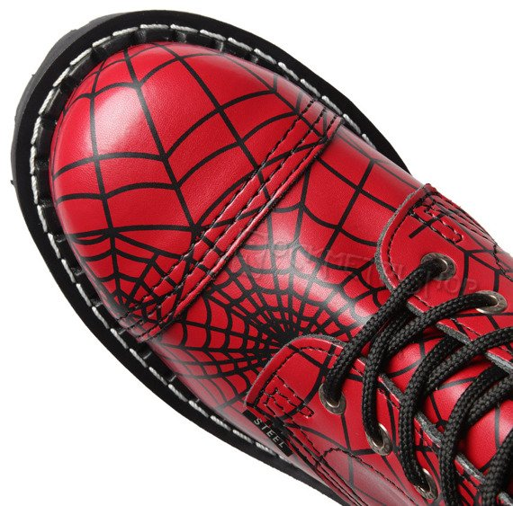 glany STEEL - SPIDER BLACK / FULL RED (10-dziurkowe)
