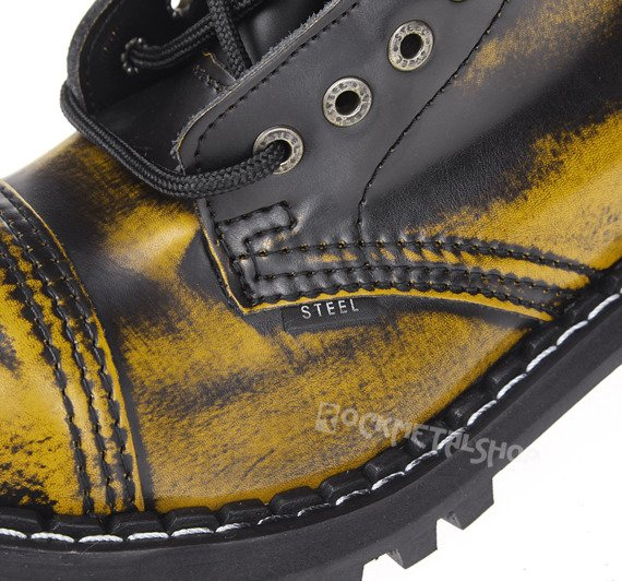 glany STEEL - YELLOW / BLACK (15 dziurek)