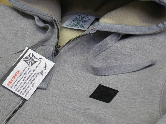 gruba bluza rozpinana WCC - SHERPS LINED grey