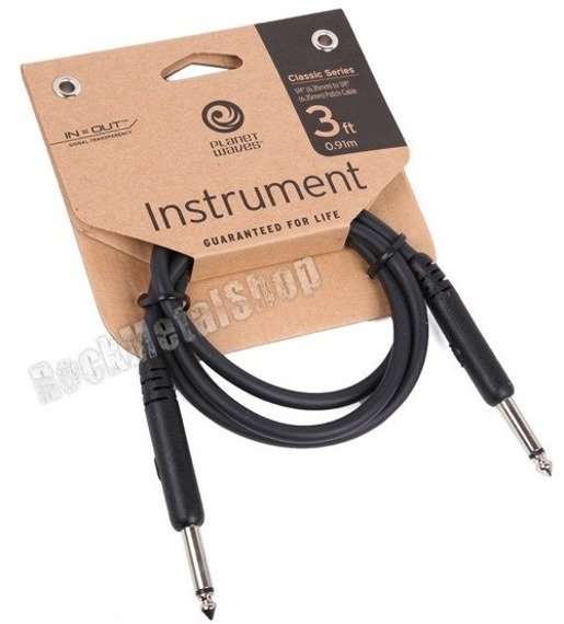 kabel do efektów 91cm PLANET WAVES CLASSIC jack prosty/prosty 3FT (PW-CGTP-03)