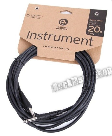 kabel gitarowy 6,10m PLANET WAVES CLASSIC jack prosty/prosty (PW-CGT-20)