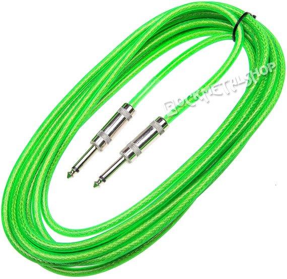 kabel gitarowy ACOUSTICS 6m jack prosty-prosty / zielony