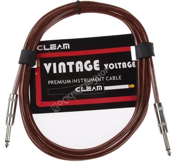 kabel gitarowy GLEAM VINTAGE 3m BROWN jack prosty/prosty