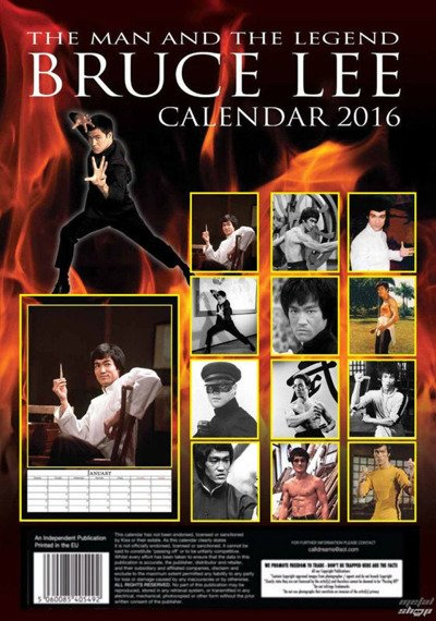 kalendarz BRUCE LEE 2016