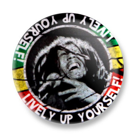 kapsel BOB MARLEY - LIVELY UP YOURSELF! Ø25mm