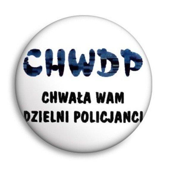 kapsel CHWDP - CHWAŁA WAM DZIELNI POLICJANCI Ø25mm