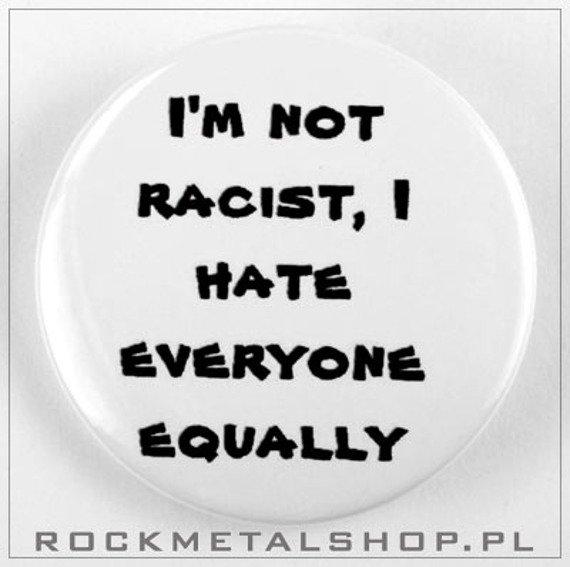 kapsel IM NOT RACIST...  średni