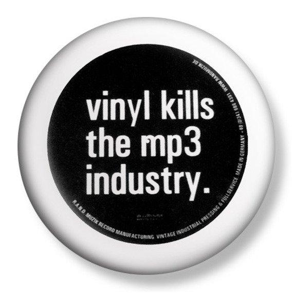 kapsel średni VINYL KILLS THE MP3 INDUSTRY Ø38mm