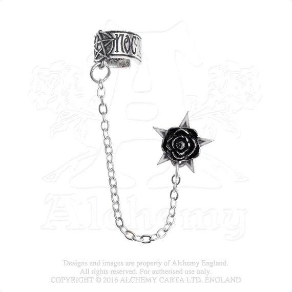 kolczyk BLACK ROSE - ROSA NOCTA