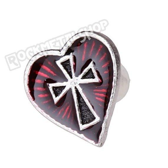 kolczyk Sacred Heart stud [E262] Alchemy Gothic