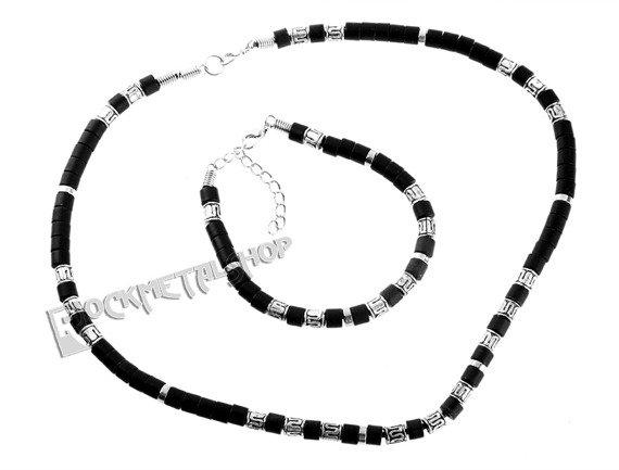 komplet koralików BLACK SILVER 5