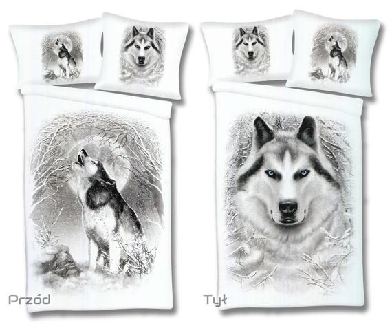 komplet pościelowy SPIRAL - WHITE WOLF duży