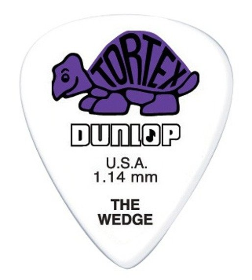 kostka gitarowa DUNLOP - TORTEX THE WEDGE PURPLE 1.14 mm (424R1.14)