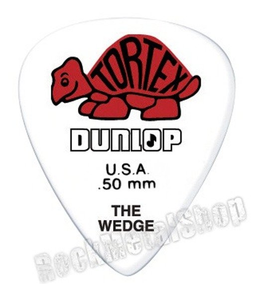 kostka gitarowa DUNLOP - TORTEX THE WEDGE RED 0.50 mm (424R0.50)