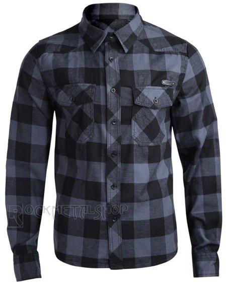 koszula CHECKSHIRT - BLACK GREY