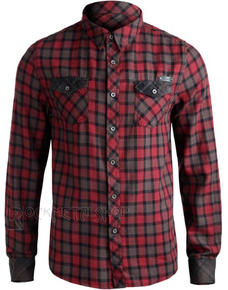 koszula CHECKSHIRT DUNCAN - RED BROWN
