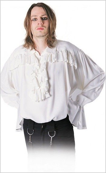 koszula GOTYCKA biała (5753)