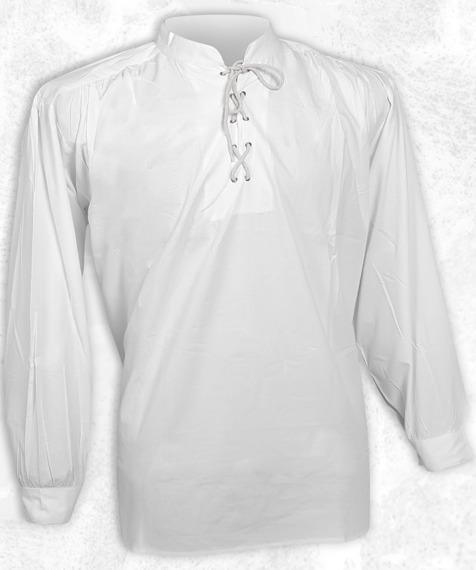 koszula GOTYCKA biała ze stójką (5330)