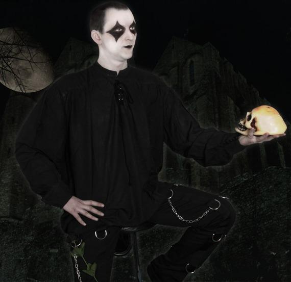koszula GOTYCKA czarna (3010)