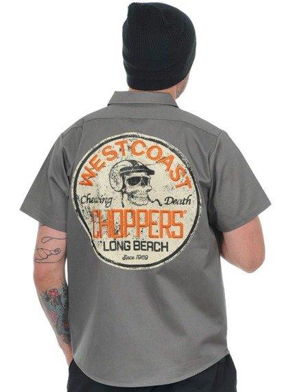 koszula WEST COAST CHOPPERS - CHEATING DEATH GREY