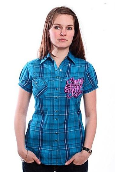 koszula damska  IRON FIST - HOLY ROMAN (ELECTRIC BLUE)