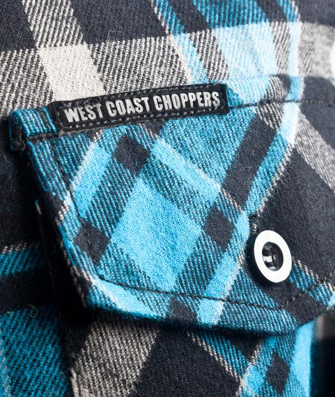 koszula flanelowa WEST COAST CHOPPERS - FINNLEY BLUE