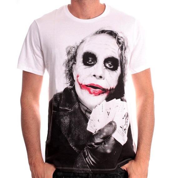 koszulka BATMAN - JOKER POKER biała