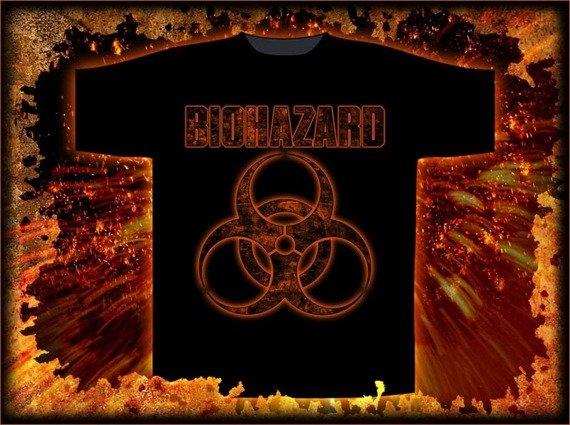 koszulka  BIOHAZARD - LOGO
