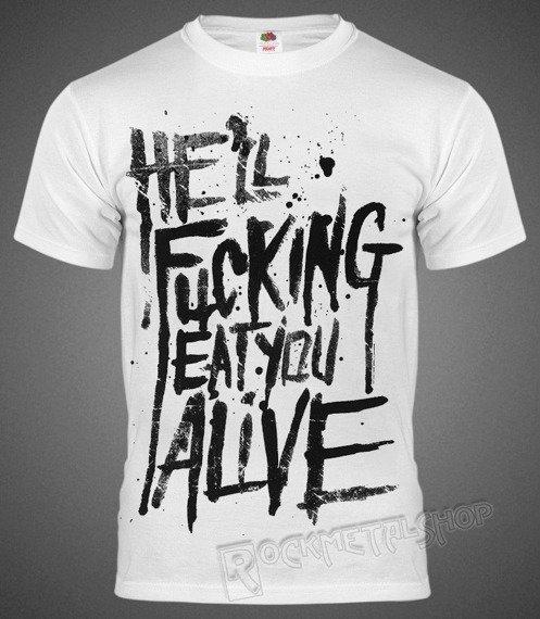 koszulka BLACK ICON - HE'LL FUCKING EAT YOU ALIVE (MICON150 WHITE)