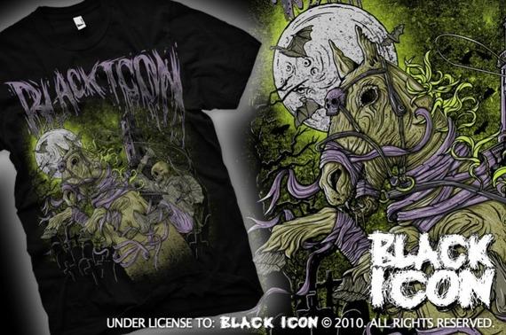 koszulka BLACK ICON - HORSERIDER (MICON079 BLACK)