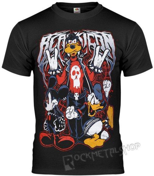 koszulka BLACK ICON - MOUSE, DUCK AND DOG (MICON111 BLACK)