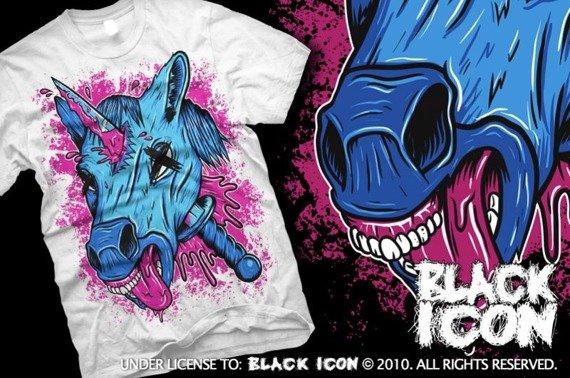 koszulka BLACK ICON - UNICORPSE (MICON105 WHITE)